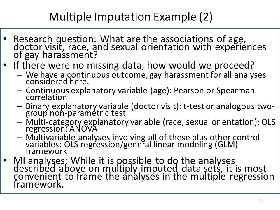 Multiple Imputation Example (2)