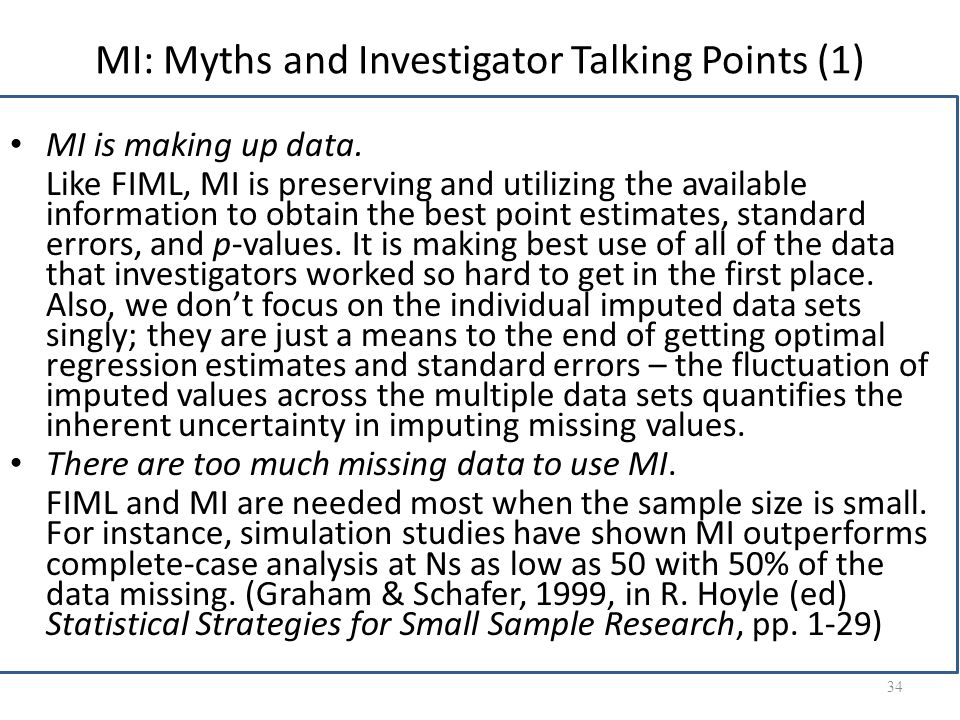 MI: Myths and Investigator Talking Points (1)