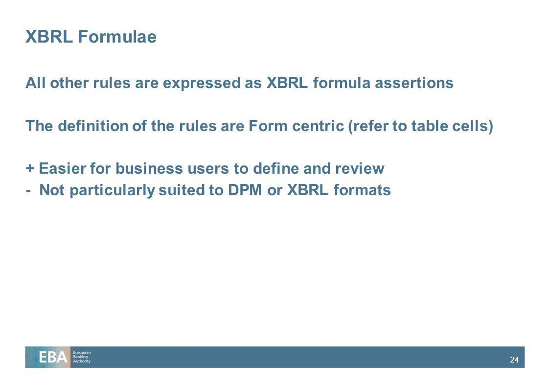 XBRL Formulae