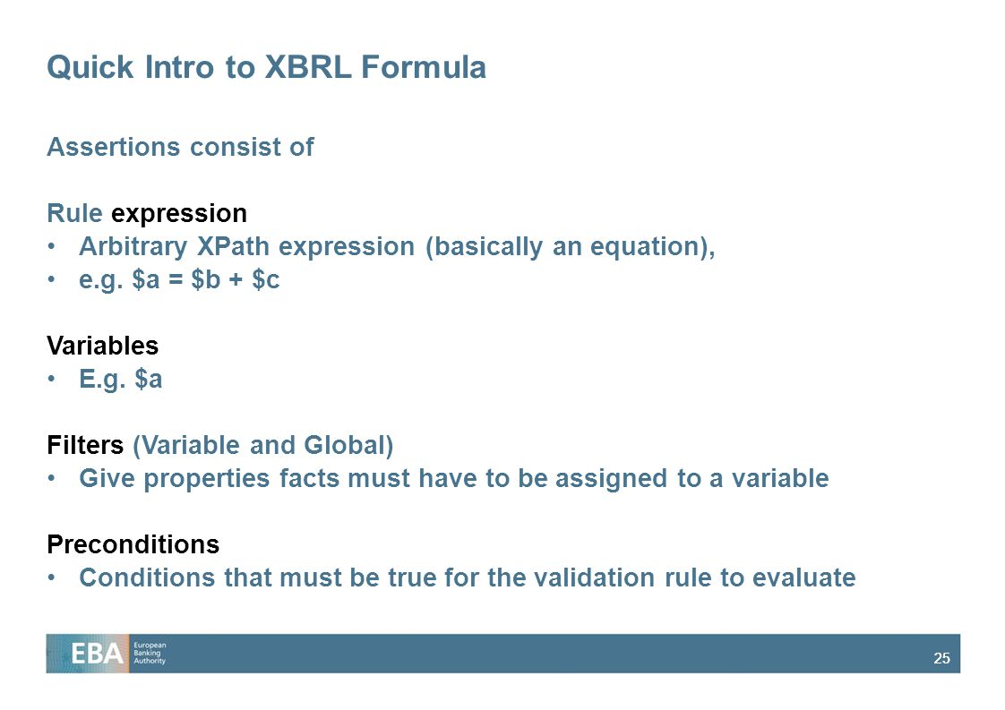 Quick Intro to XBRL Formula