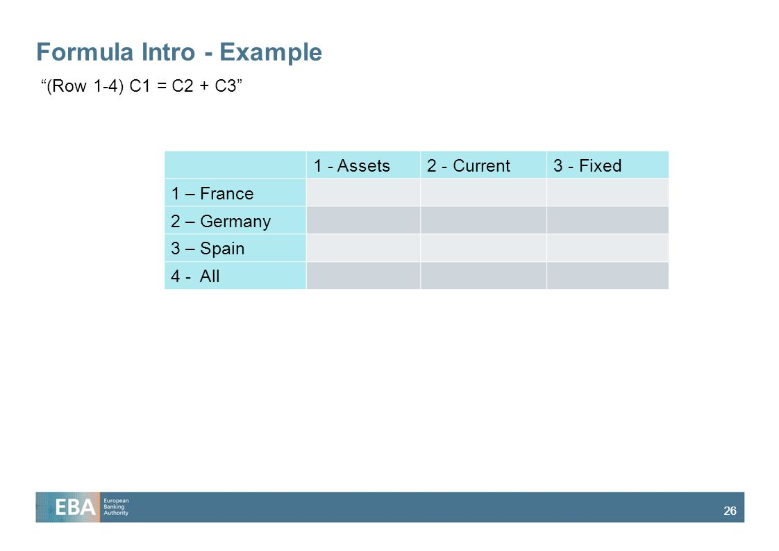 Formula Intro - Example