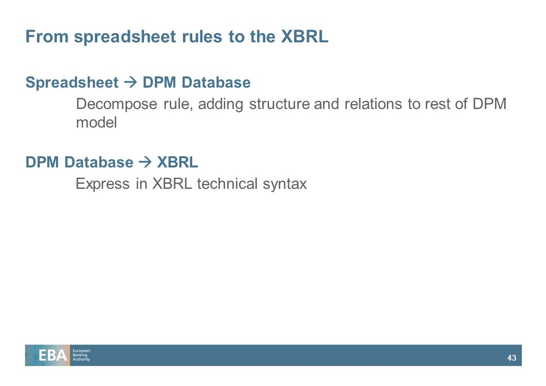 From spreadsheet rules to the XBRL