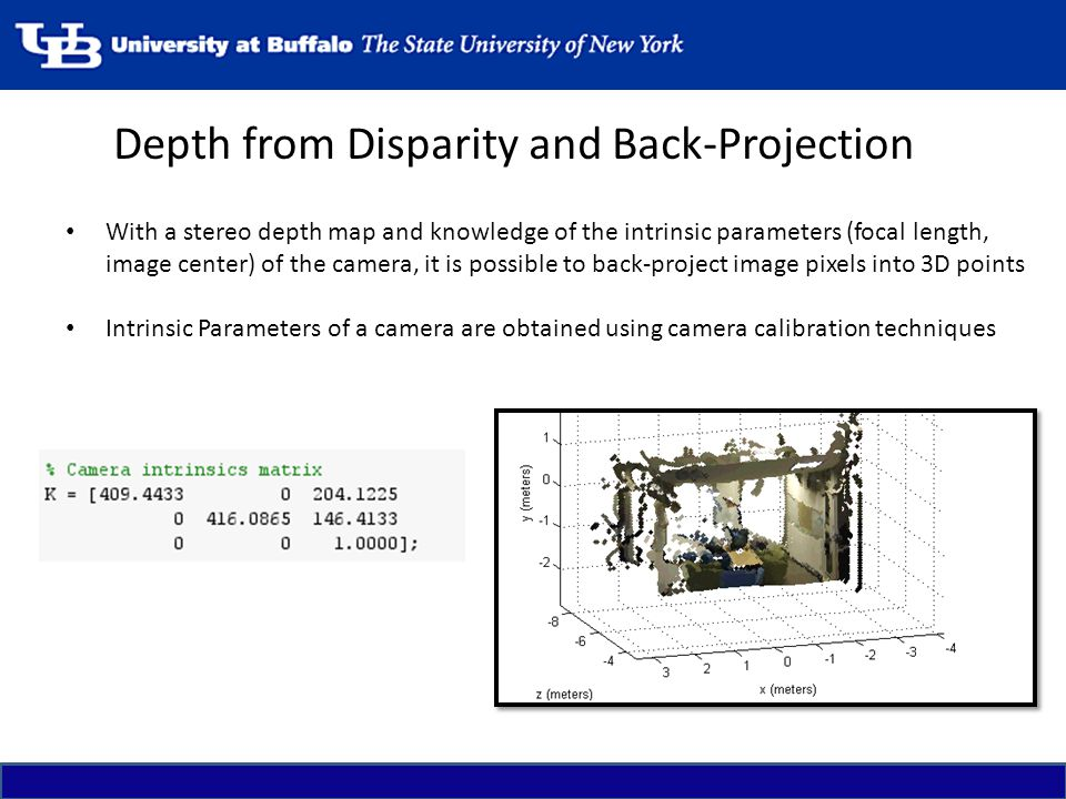 Depth from Disparity and Back-Projection