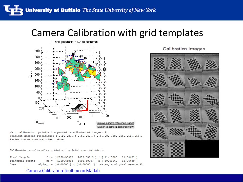 Camera Calibration with grid templates