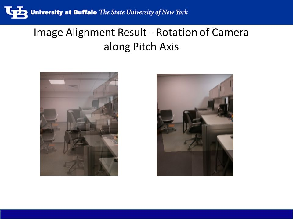 Image Alignment Result - Rotation of Camera along Pitch Axis