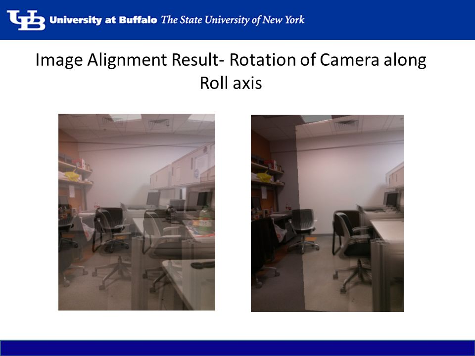 Image Alignment Result- Rotation of Camera along Roll axis