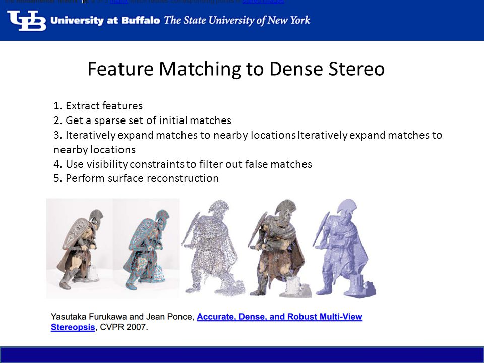 Feature Matching to Dense Stereo