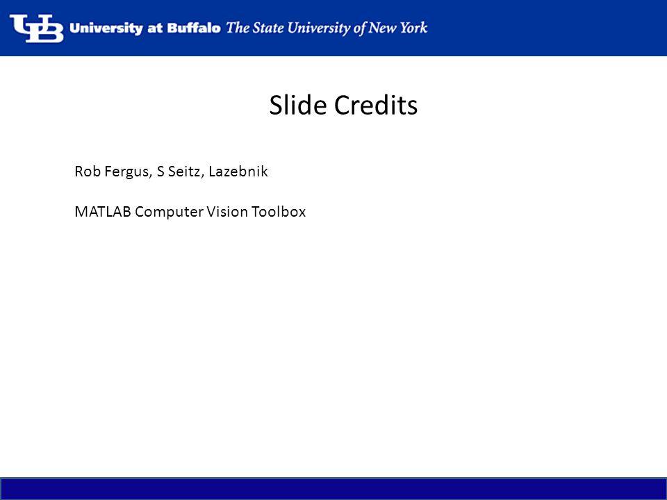 Slide Credits Rob Fergus, S Seitz, Lazebnik