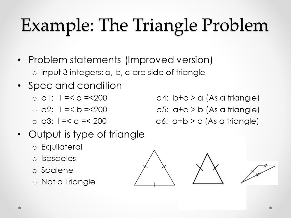 Example: The Triangle Problem
