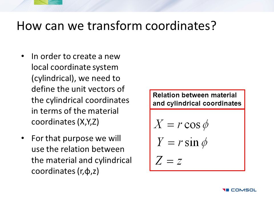 How can we transform coordinates