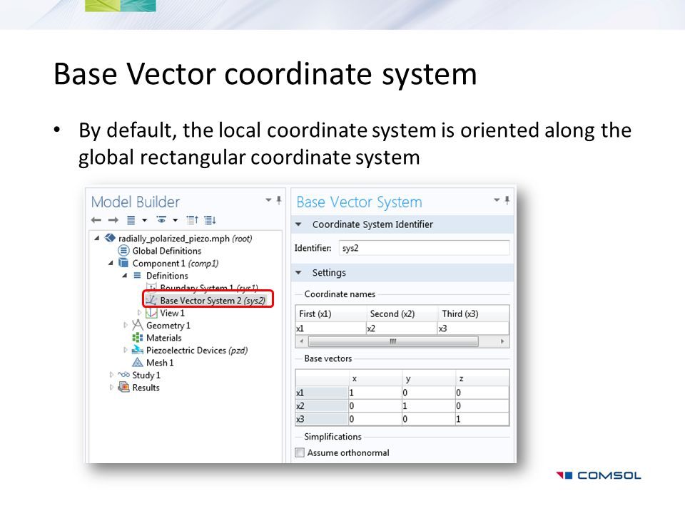 Base Vector coordinate system