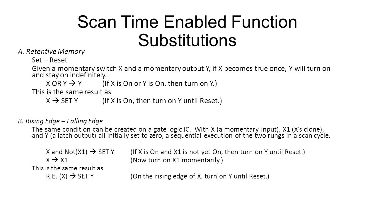 Scan Time Enabled Function Substitutions