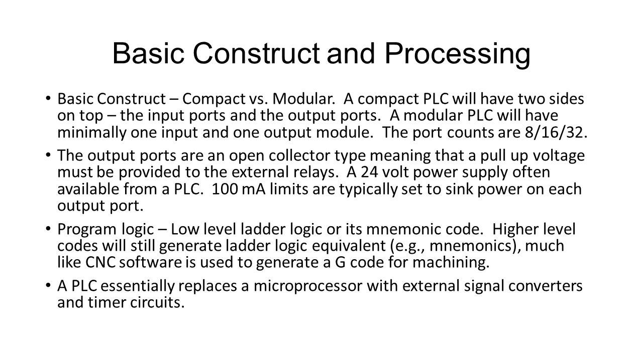 Basic Construct and Processing