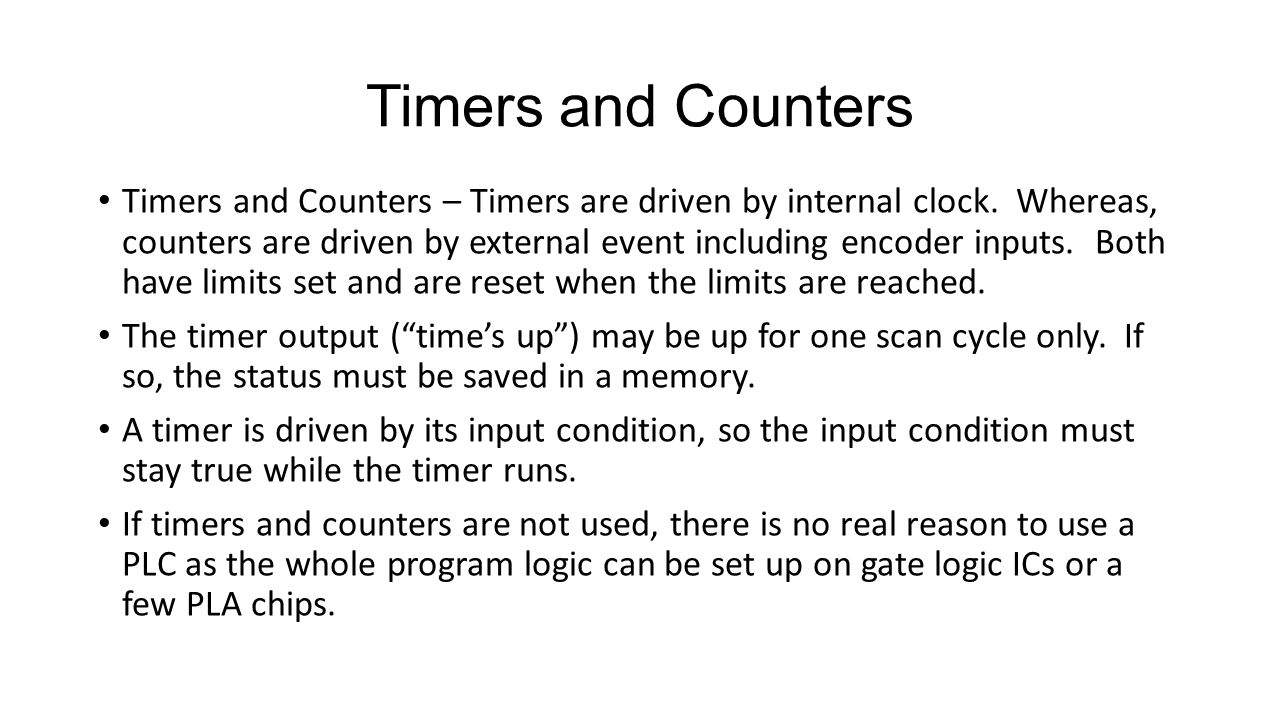 Timers and Counters