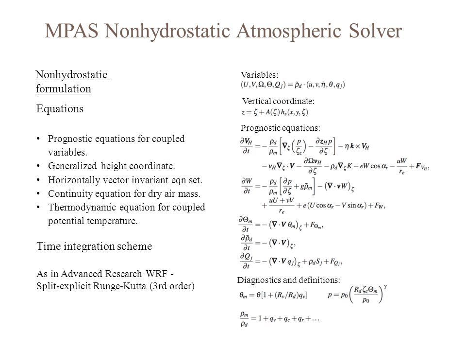 MPAS Nonhydrostatic Atmospheric Solver