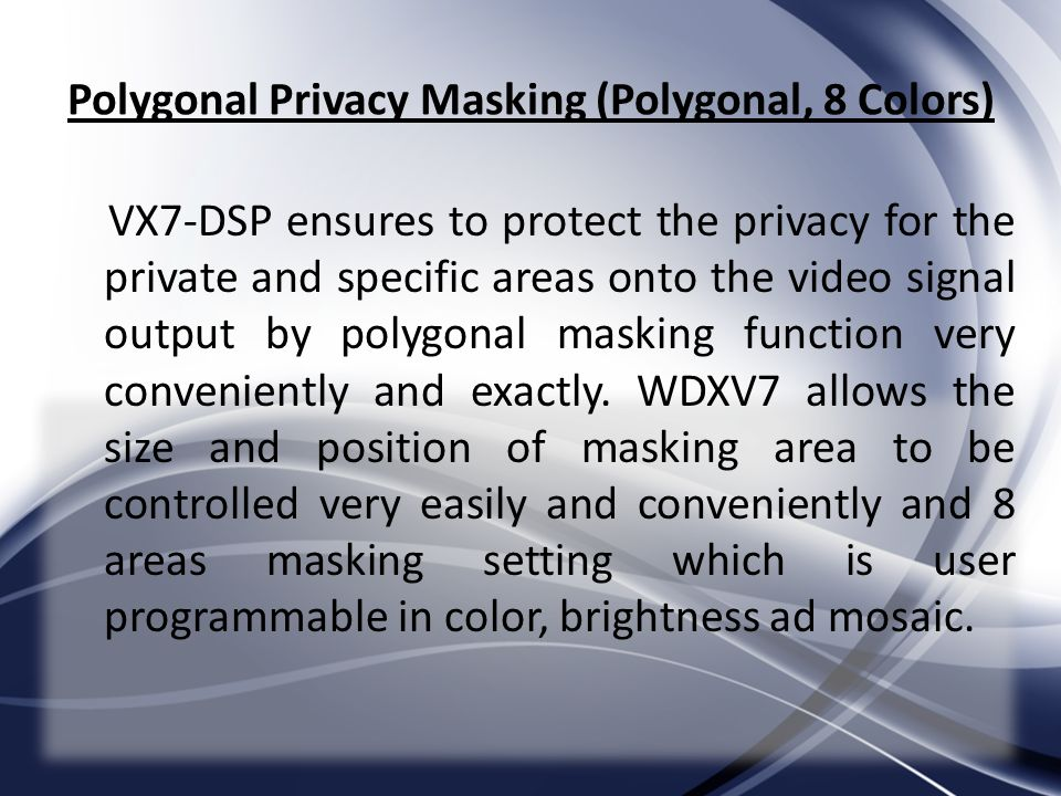 Polygonal Privacy Masking (Polygonal, 8 Colors)