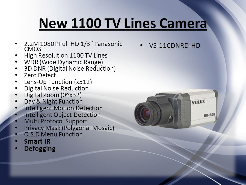 New 1100 TV Lines Camera VS-11CDNRD-HD Smart IR Defogging