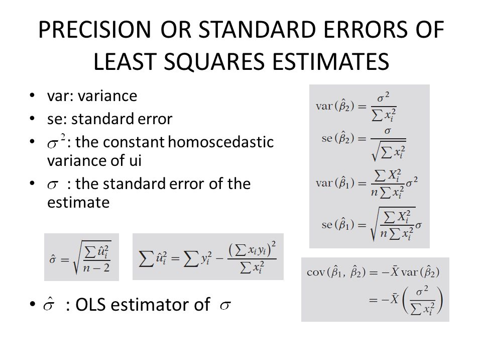 PRECISION OR STANDARD ERRORS OF LEAST SQUARES ESTIMATES