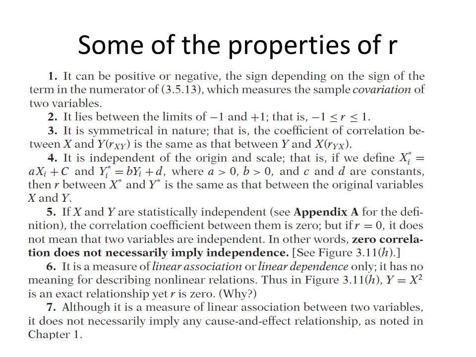Some of the properties of r