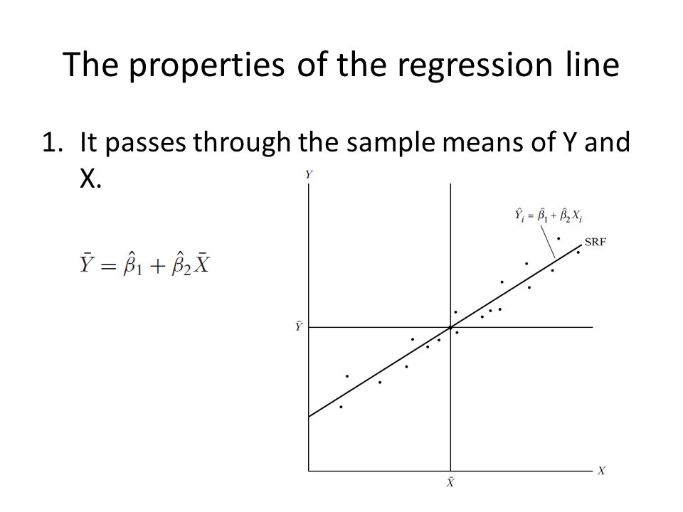 The properties of the regression line