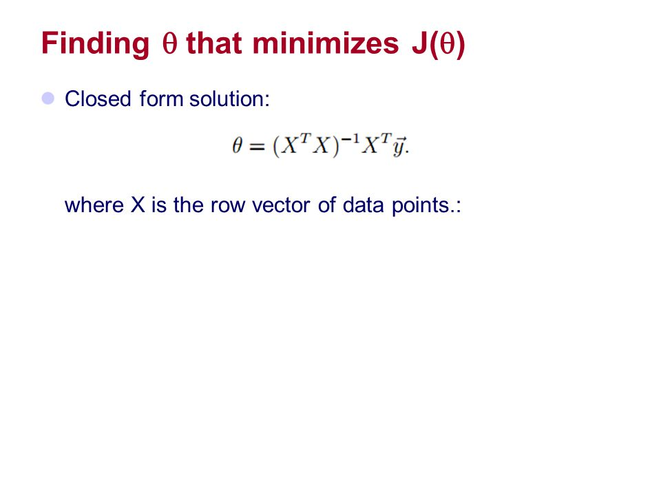 Finding q that minimizes J(q)