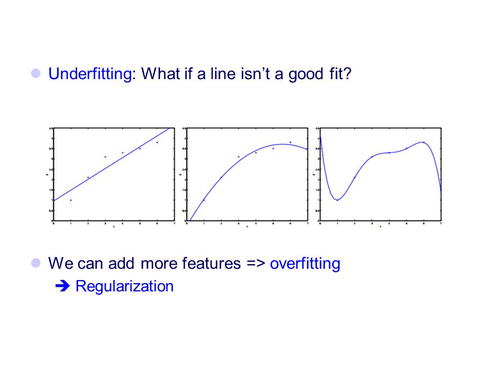 Underfitting: What if a line isn't a good fit