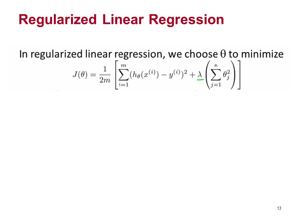Regularized Linear Regression