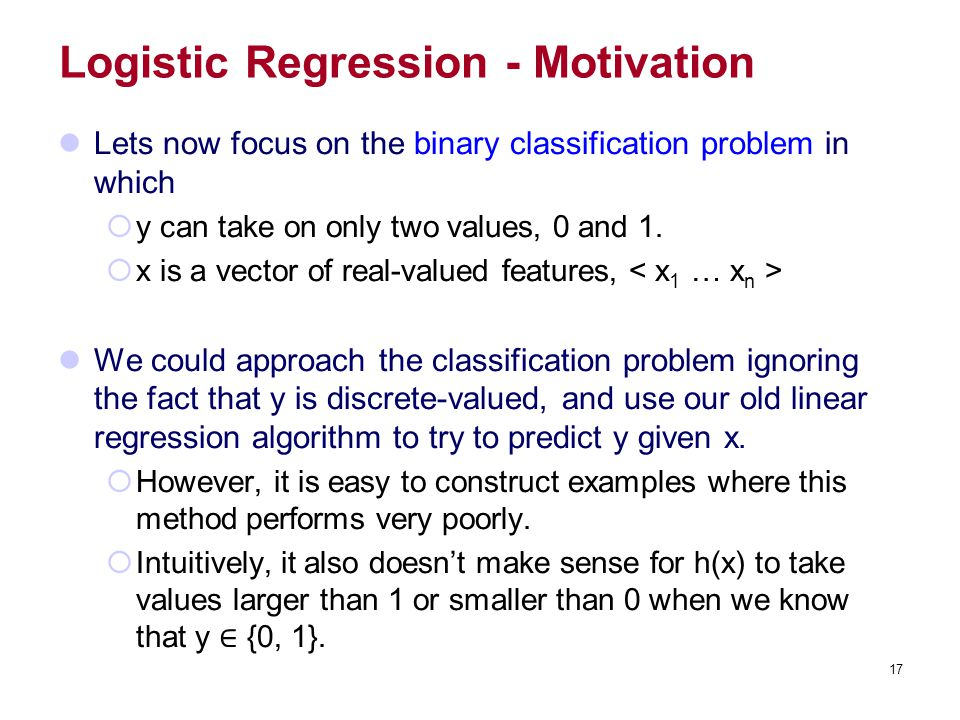 Logistic Regression - Motivation