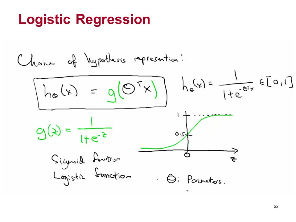 Logistic Regression 22 22