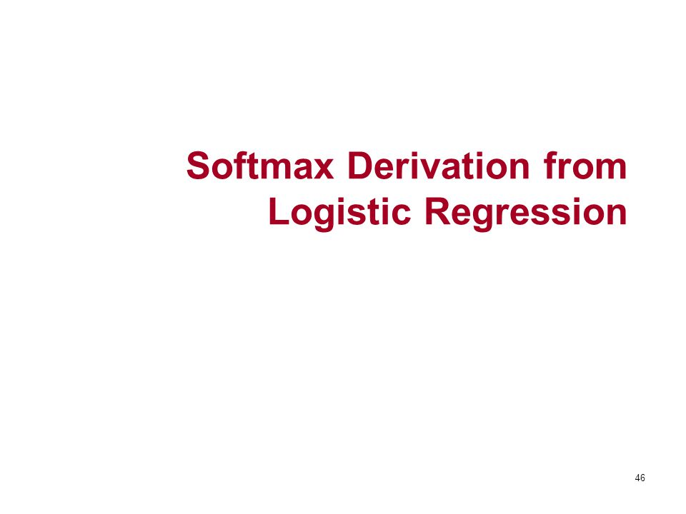 Softmax Derivation from Logistic Regression