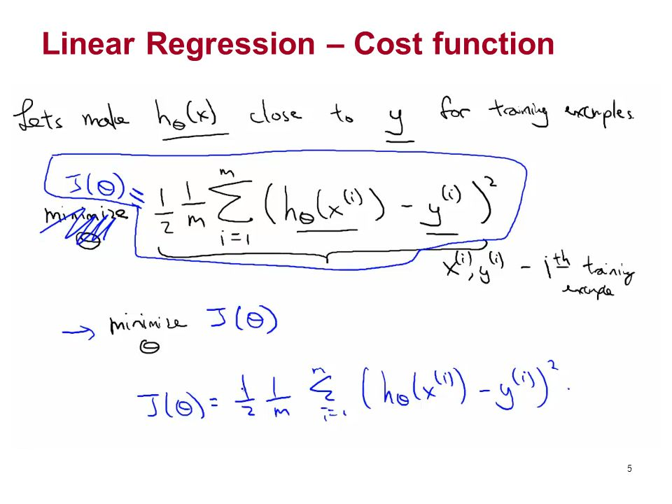 Linear Regression – Cost function
