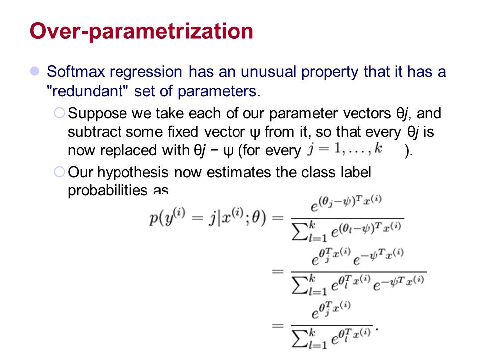 Over-parametrization