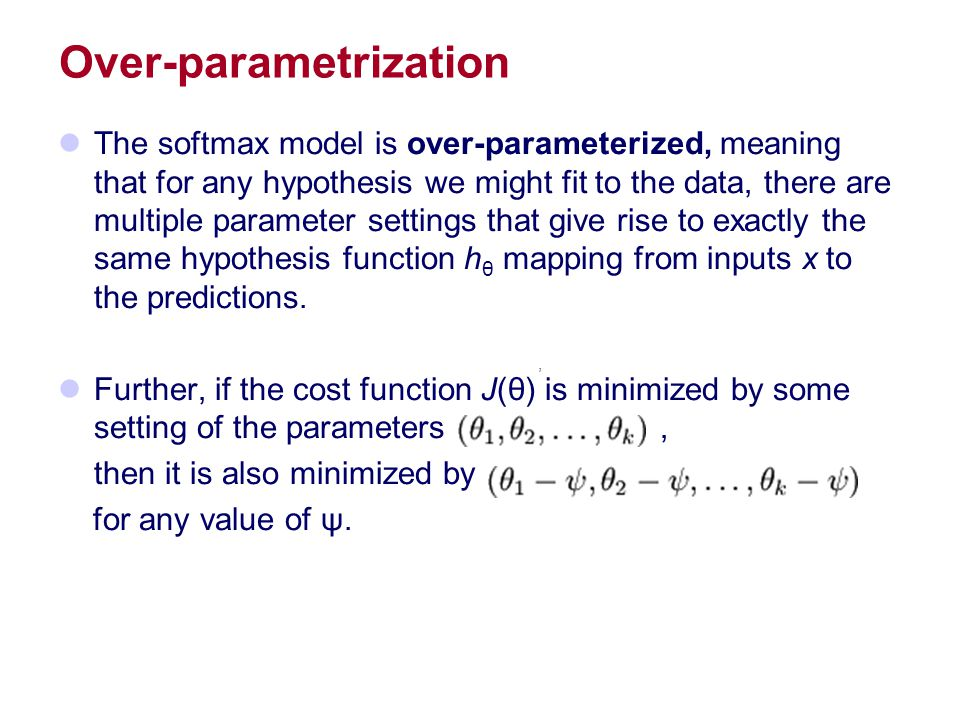 Over-parametrization