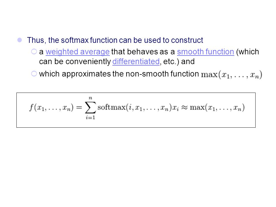 which approximates the non-smooth function