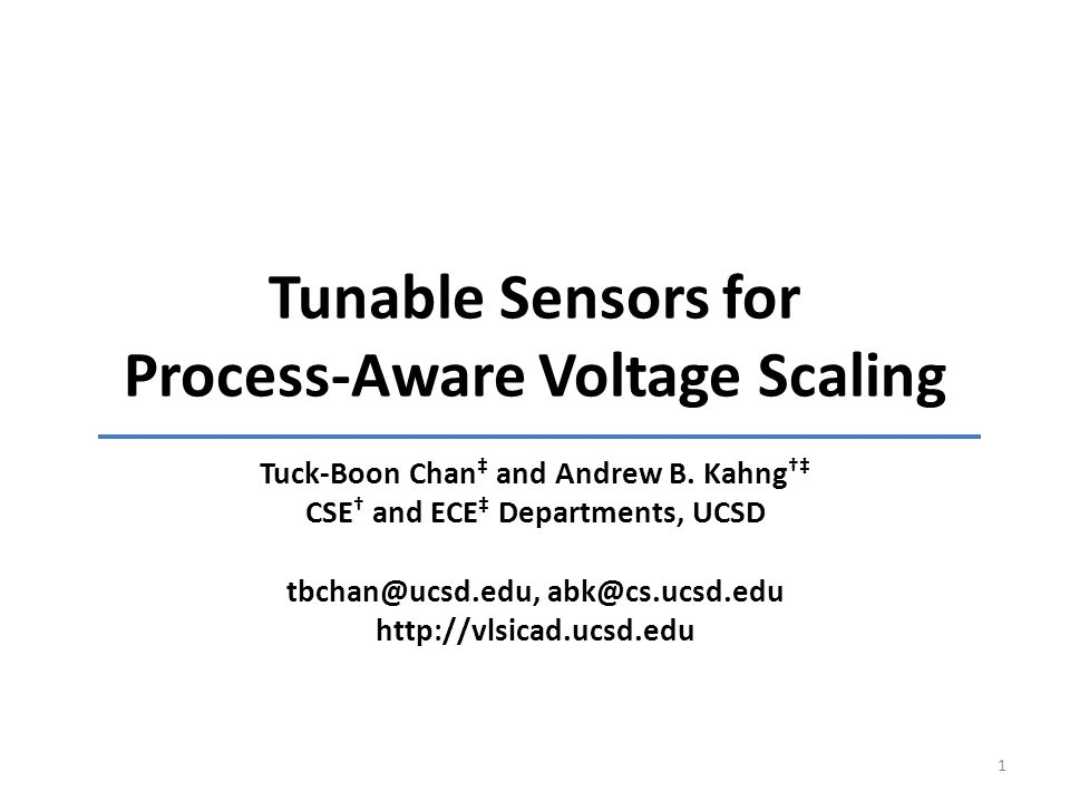 Tunable Sensors for Process-Aware Voltage Scaling