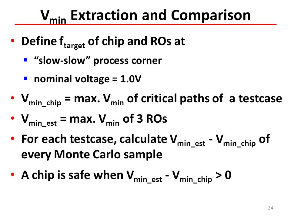 Vmin Extraction and Comparison
