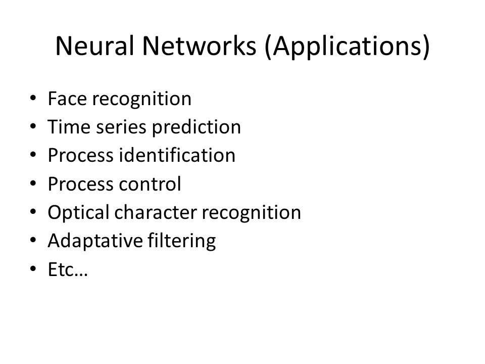 Neural Networks (Applications)
