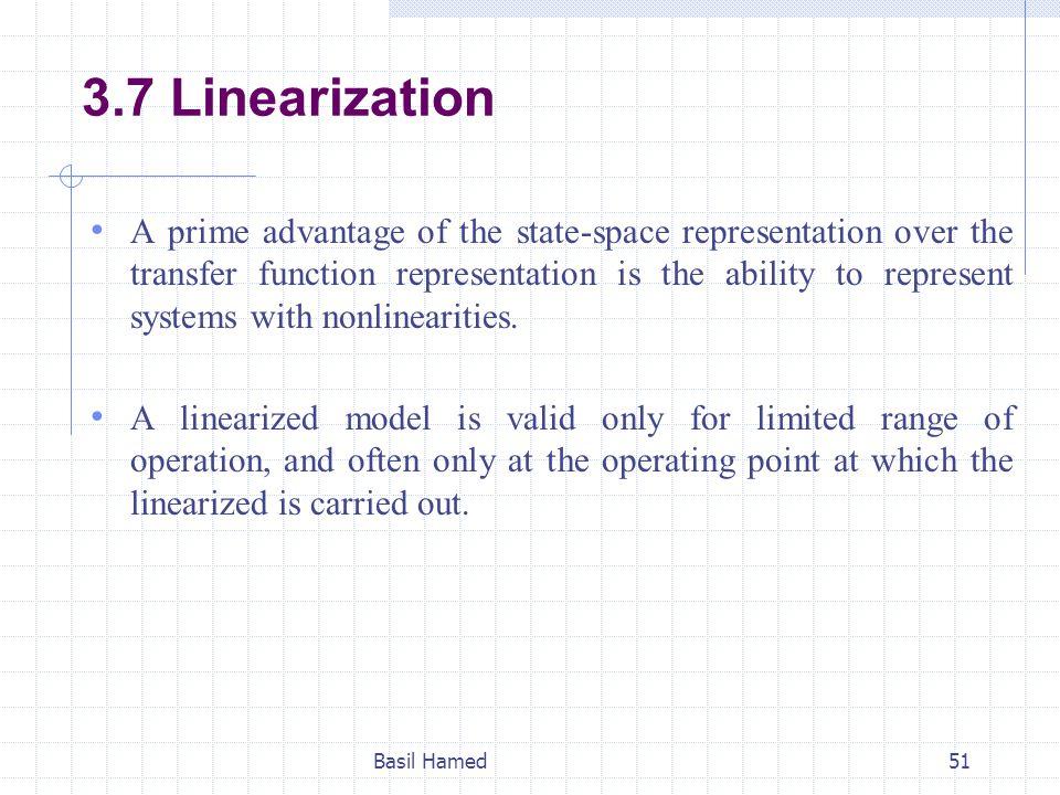 3.7 Linearization