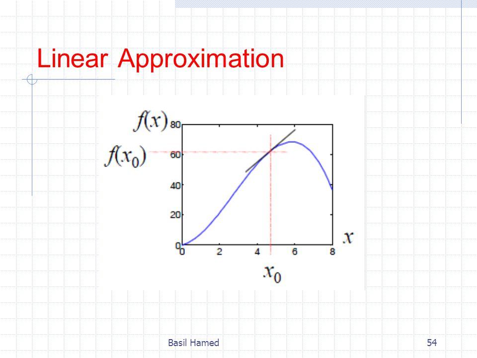 Linear Approximation Basil Hamed