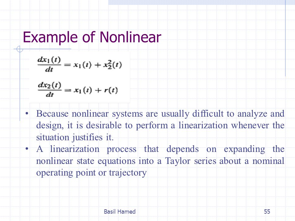 Example of Nonlinear