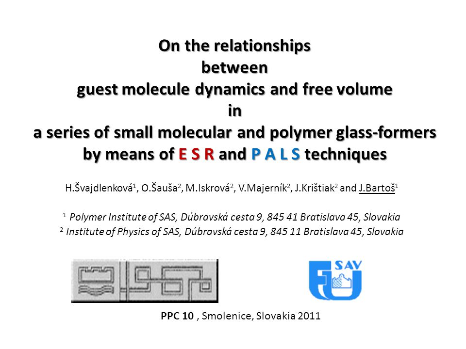 guest molecule dynamics and free volume