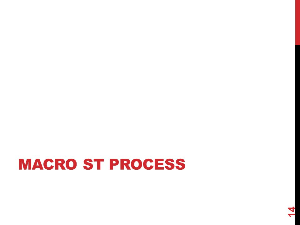 Macro ST process