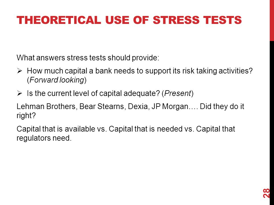 Theoretical use of stress tests