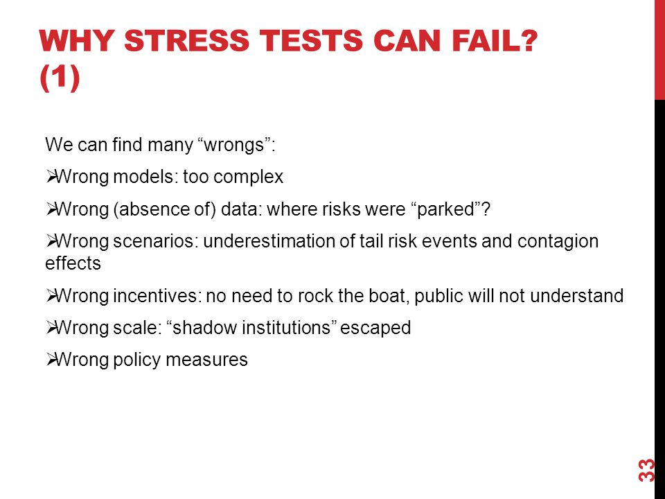 Why stress tests can fail (1)