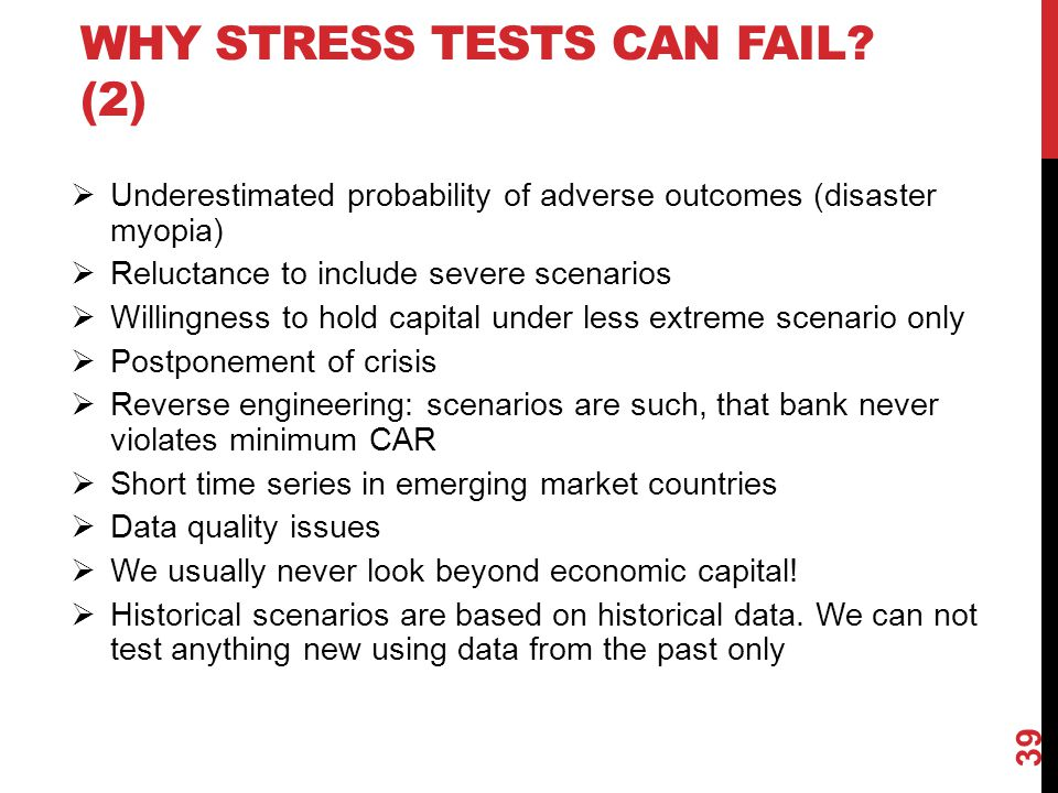 Why stress tests can fail (2)