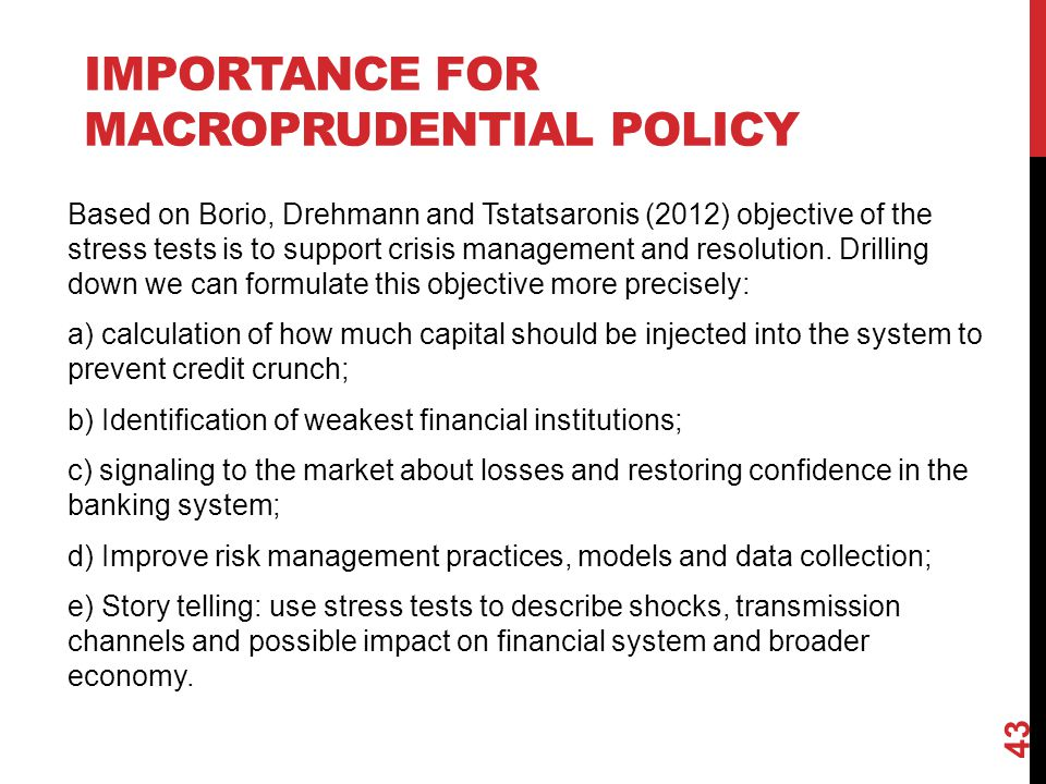 Importance for macroprudential policy