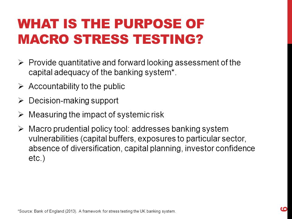 What is the purpose of macro stress testing