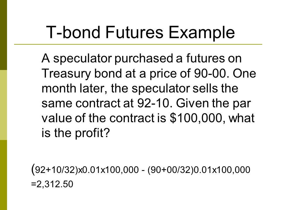 T-bond Futures Example