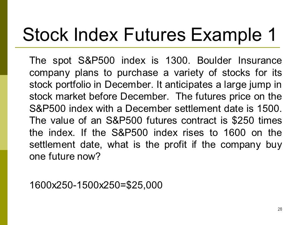 Stock Index Futures Example 1