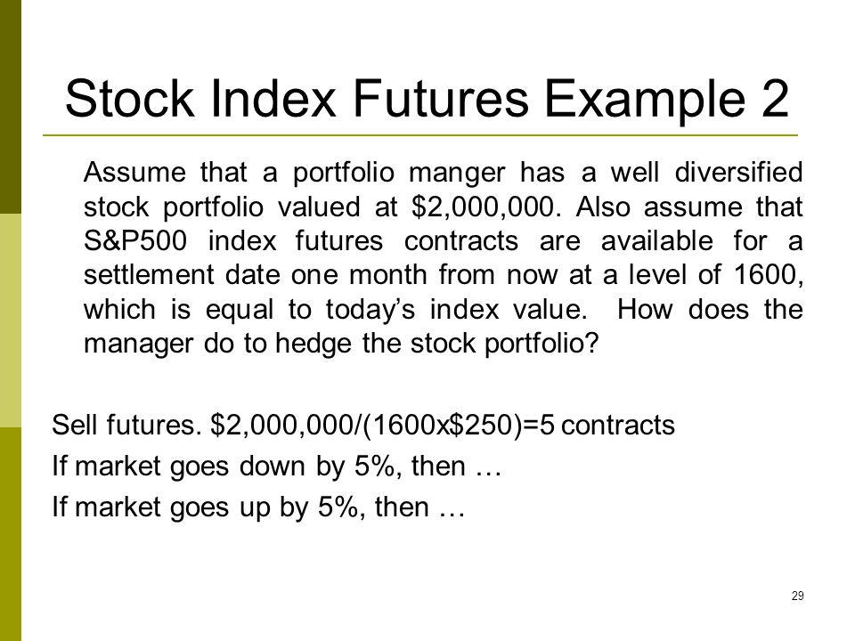 Stock Index Futures Example 2